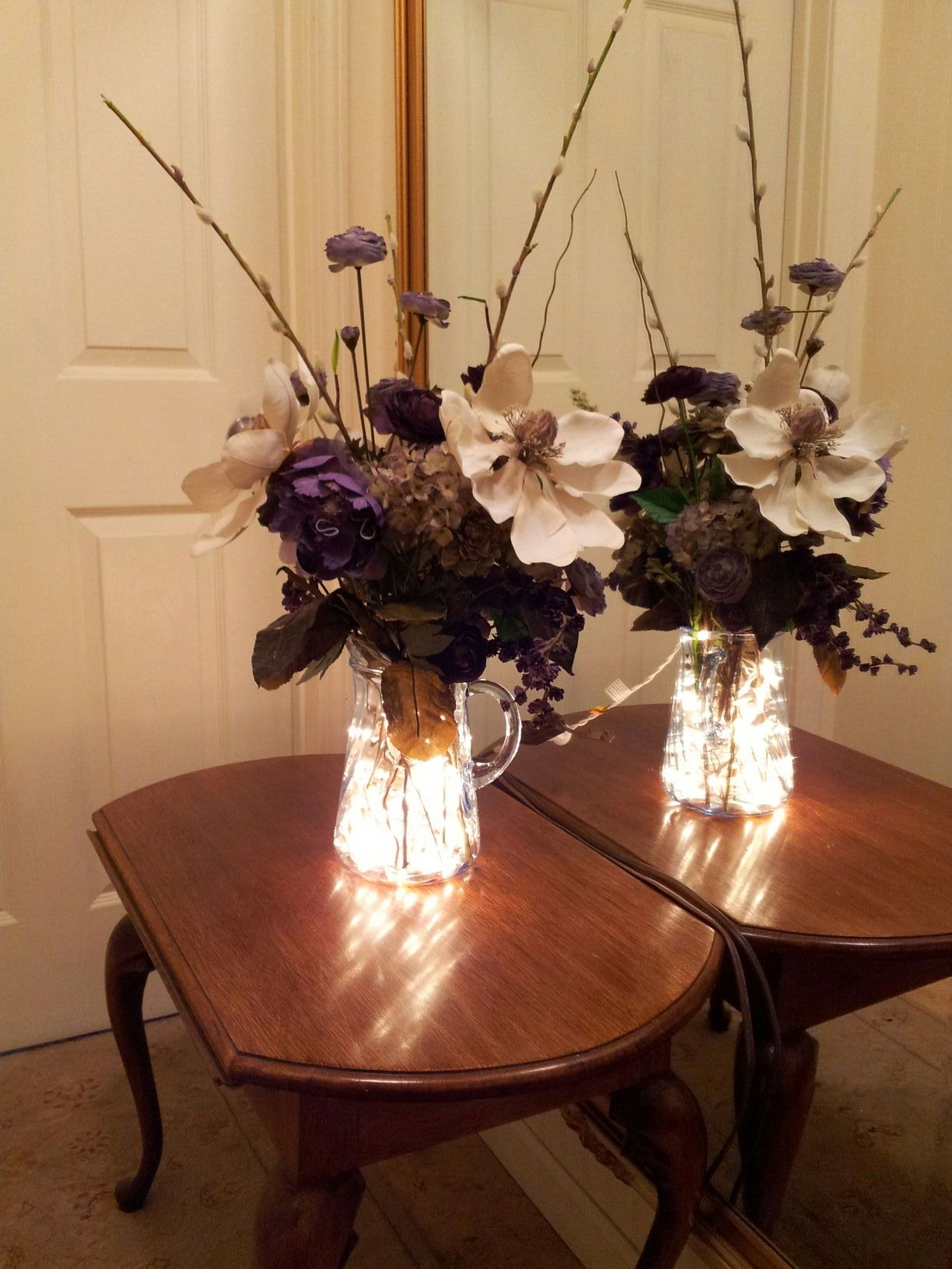 lighted vase flower arrangement seasonally you. Black Bedroom Furniture Sets. Home Design Ideas